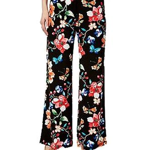 INC floral & butterfly pant